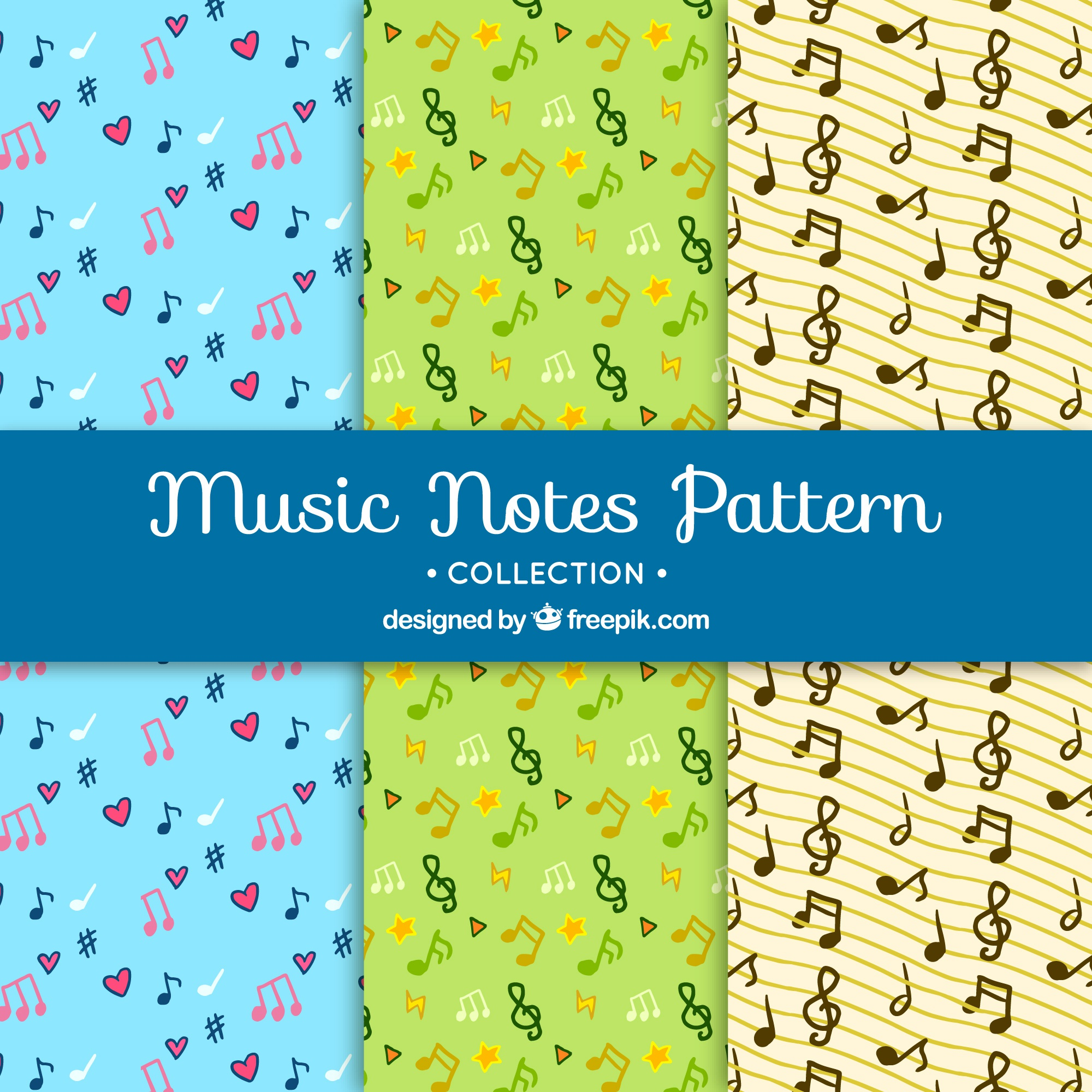 Musical pattern background