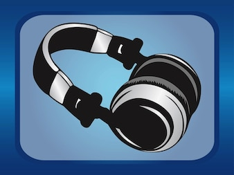 Musical technology black headphones