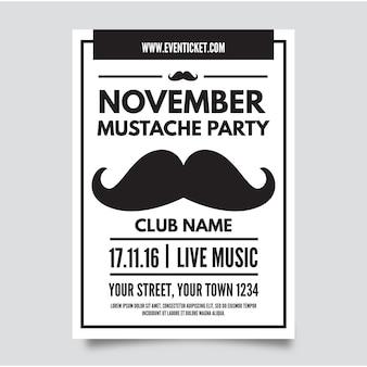 Mustache party brochure