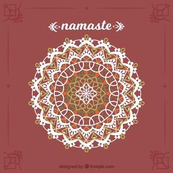 Namaste background of elegant mandala