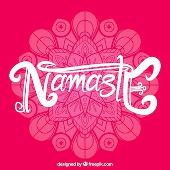 Namaste background of mandala