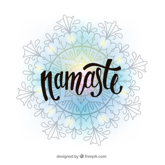 Namaste background with decorative mandala