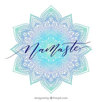 Namaste background with elegant mandala