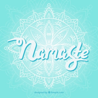 Namaste background with mandala sketch