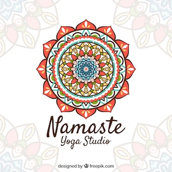 Namaste background with pretty mandaa