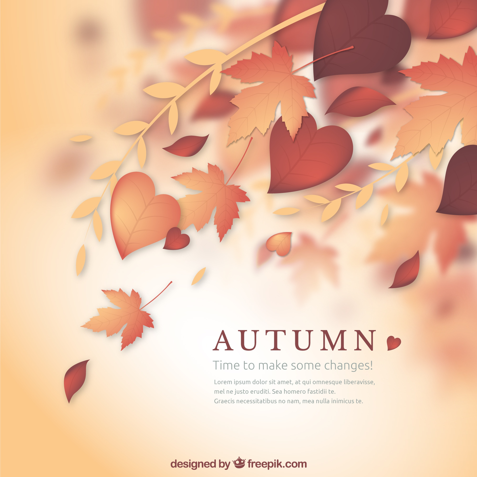 Natural autumn background
