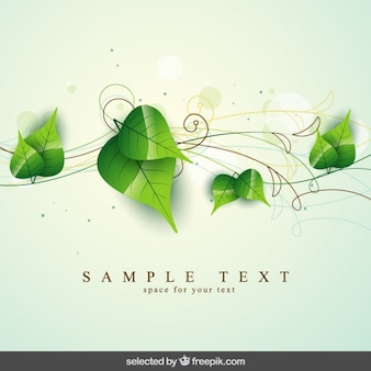 Natural background with leaves and oranments