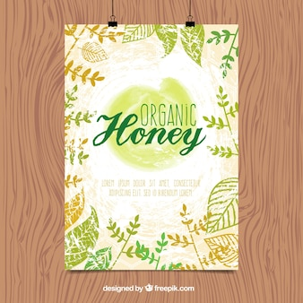 Natural honey poster
