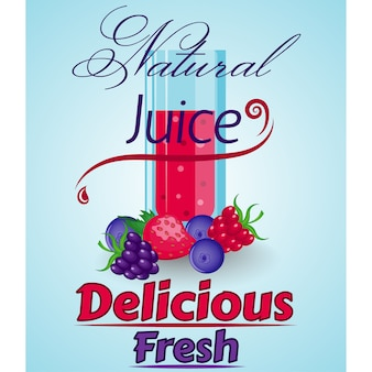 Natural juice background design