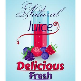 Natural juice background design