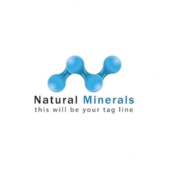 Natural mineral logo