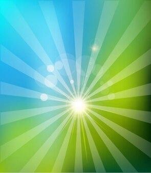 natural solar background logo vector