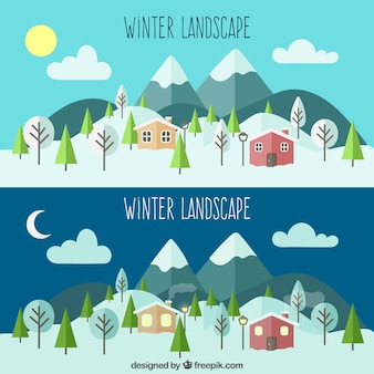 Natural winter landscapes
