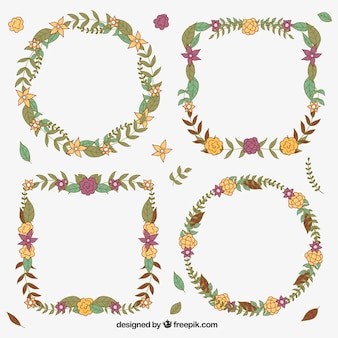 Natural wreaths for autumn