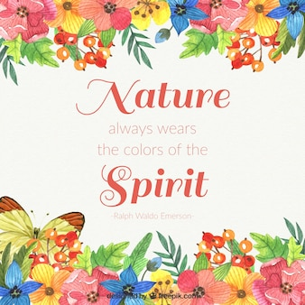 Nature always wears the colors of the spirit background