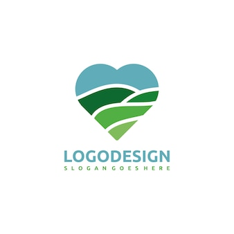 Nature and love logo template