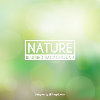 Nature background with blurred effect