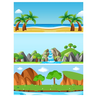 Nature banners collection