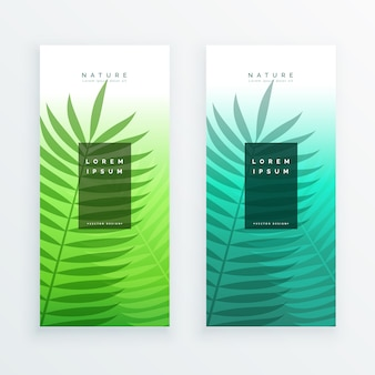 Nature banners design