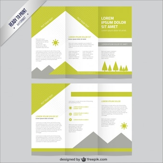 Nature brochure template