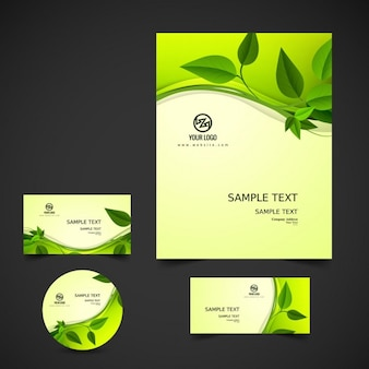 Nature business stationery