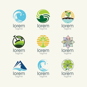 Nature logo templates collection