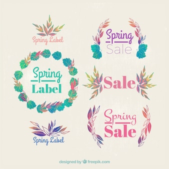 Nature ornamental labels of spring sale