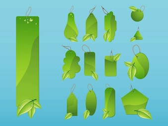 Nature shiny shapes label template