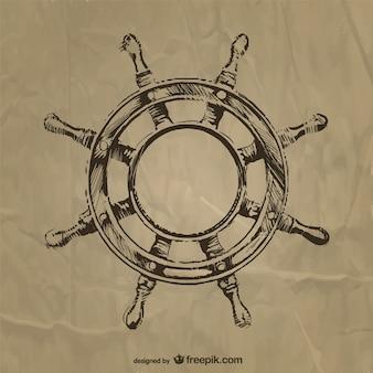 Nautic steering wheel