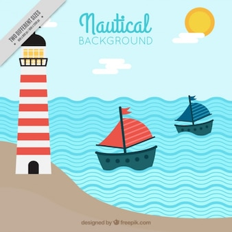 Nautical background with lines