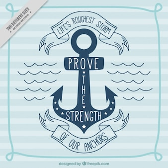 Nautical background with motivational quote