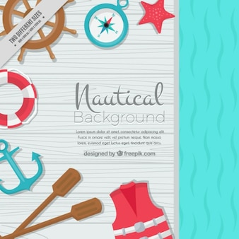 Nautical background with salor elements