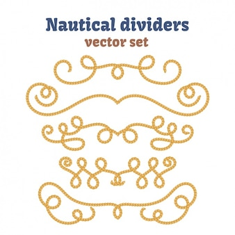 Nautical dividers collection