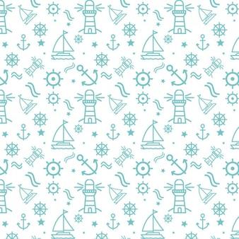 Nautical elements pattern