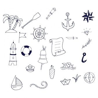 Nautical handdrawn collection