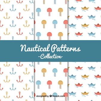 Nautical patterns collection