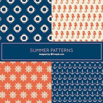 Nautical summer patterns