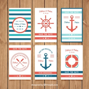 Nautical wedding invitation collection