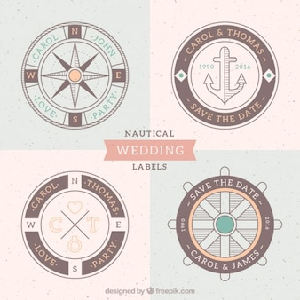 Nautical wedding labels