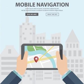 Navigation background design