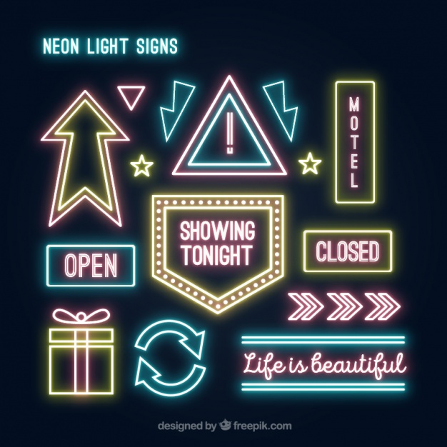 Neon light collection