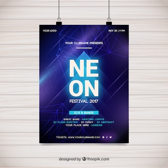 Neon poster design