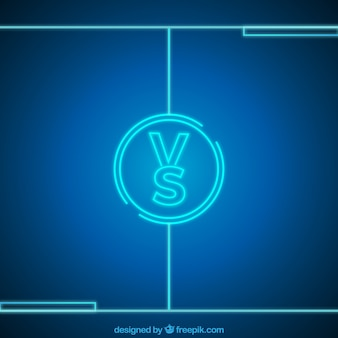 Neon versus background with circle