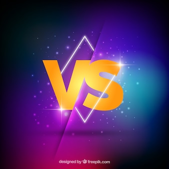 Neon versus background with geometry