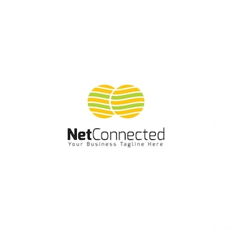 Net connected logo template