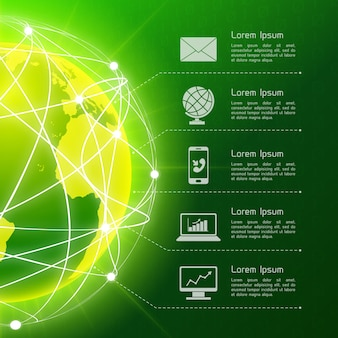 Network green background