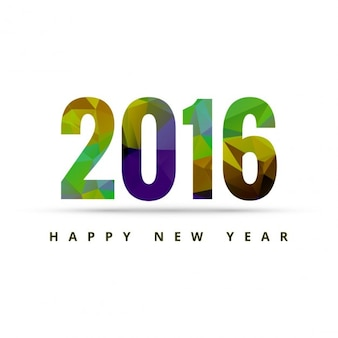 New year 2016 colorful text