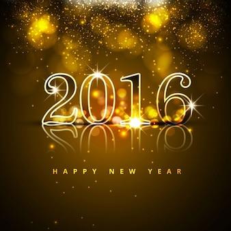 新しい年2016年には背景を輝きます