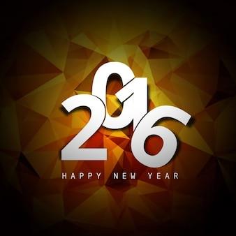 New year 2016 polygonal card