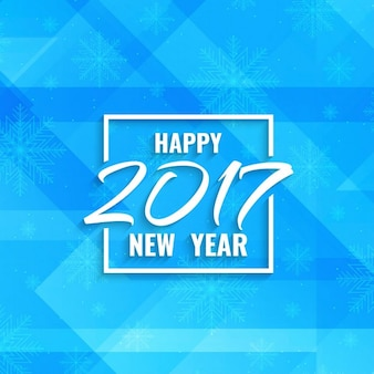 New year 2017 blue background